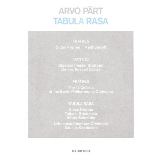 Tabula rasa (Deluxe-Edition zum 75.Geburtstag Arvo Pärts). Buch plus CD.
