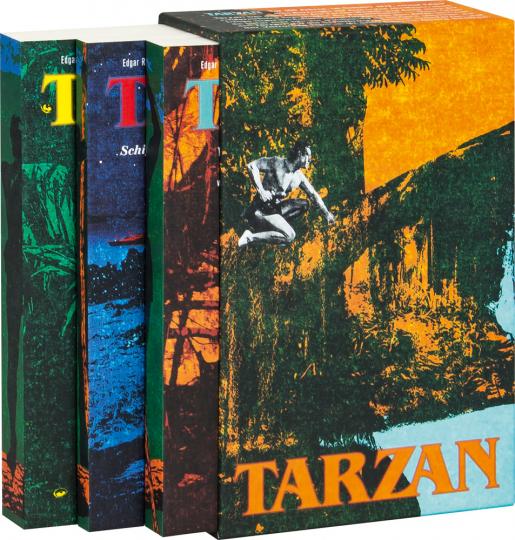 Tarzan bei den Affen. Tarzan und der Verrückte. Tarzan und die Schiffbrüchigen. Drei Abenteuerromane im Schuber.