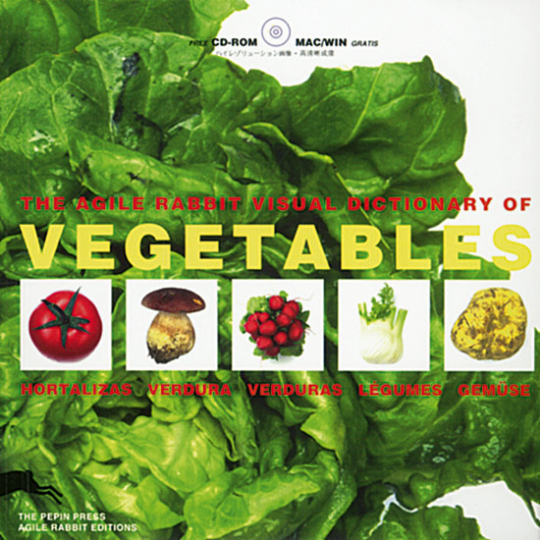 The Agile Rabbit Visual Dictionary of Vegetables (Buch + CD-ROM)