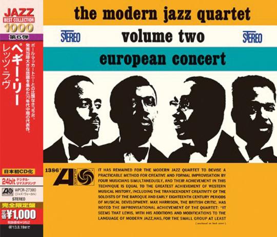 The Modern Jazz Quartet. European Concert Volume Two. CD.