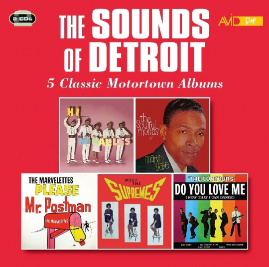 The Sounds Of Detroit. Five Classic Motortown Albums. 2 CDs.