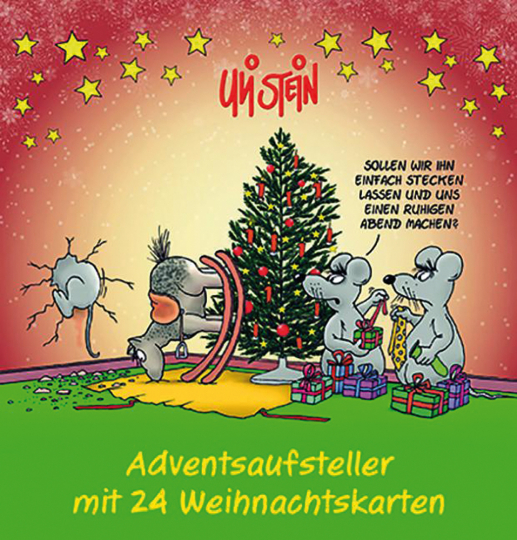 Uli Stein. Adventsaufsteller mit 24 Weihnachtskarten.