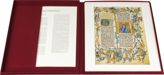 Unesco Memory of the World. Vier Faksimileblätter aus wertvollen Handschriften des Weltdokumentenerbes.