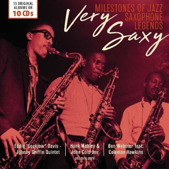 Very Saxy. Milestones of Jazz Saxophone Legends. 10 CDs.