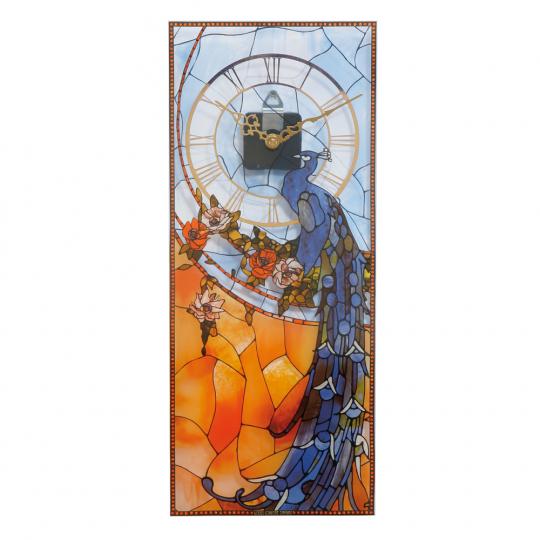 Wanduhr Louis C. Tiffany »Pfau«.