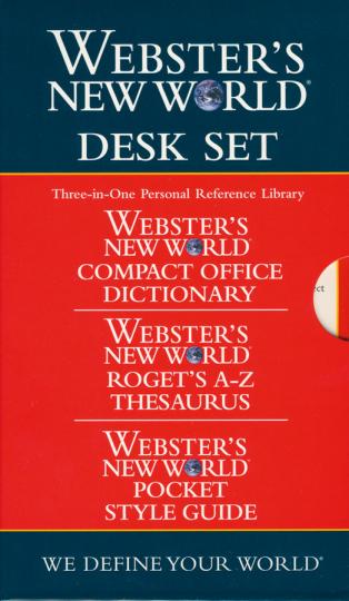 Webster's New World. Pocket Desk Set.