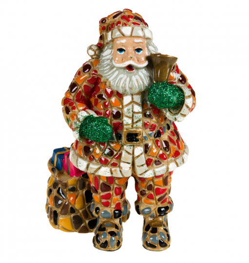 Weihnachtsmann aus Mosaik.