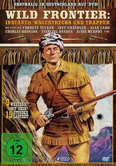 Wild Frontier: Indianer, Wagentrecks und Trapper (9 Filme). 4 DVDs.