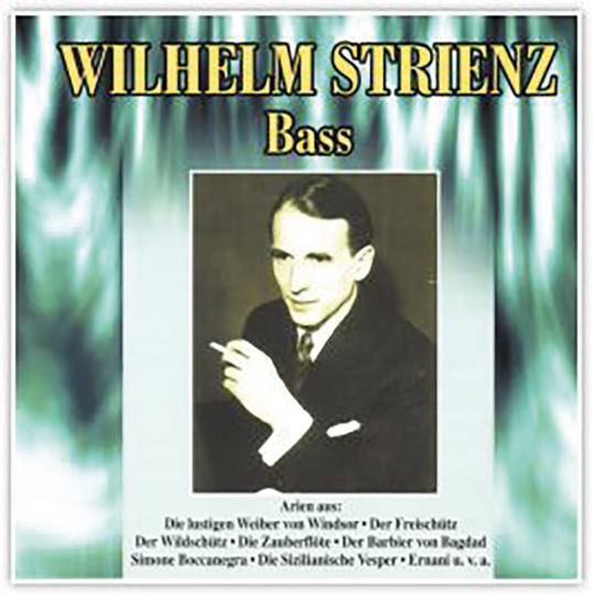 Wilhelm Strienz - Vol. 1 CD