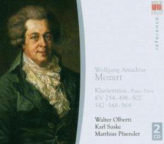 Wolfgang Amadeus Mozart. Klaviertrios Nr. 1-5. 2 CDs.