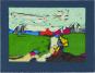 Klaus Fußmann. »Landschaft mit Häusern«. Bild 1