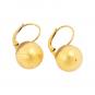 Ohrringe aus Murano Perle, gold. Bild 1