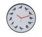 Wanduhr »Ultraflach« mit 12 Vogelstimmen, grau. Bild 1