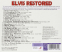 Elvis Presley. Elvis Restored. CD. Bild 2