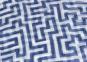 Schal nach Anni Albers »Mäander«, blau. Bild 2
