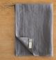 Geschirrhandtuch aus Leinen, grau. Bild 3