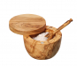 Gewürz- und Salztopf aus Olivenholz. Bild 4